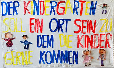 Plakat Kindergarten Bannweg